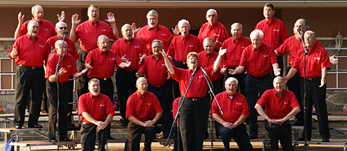 The Lancaster Red Rose Chorus playing at Garden Spot Village