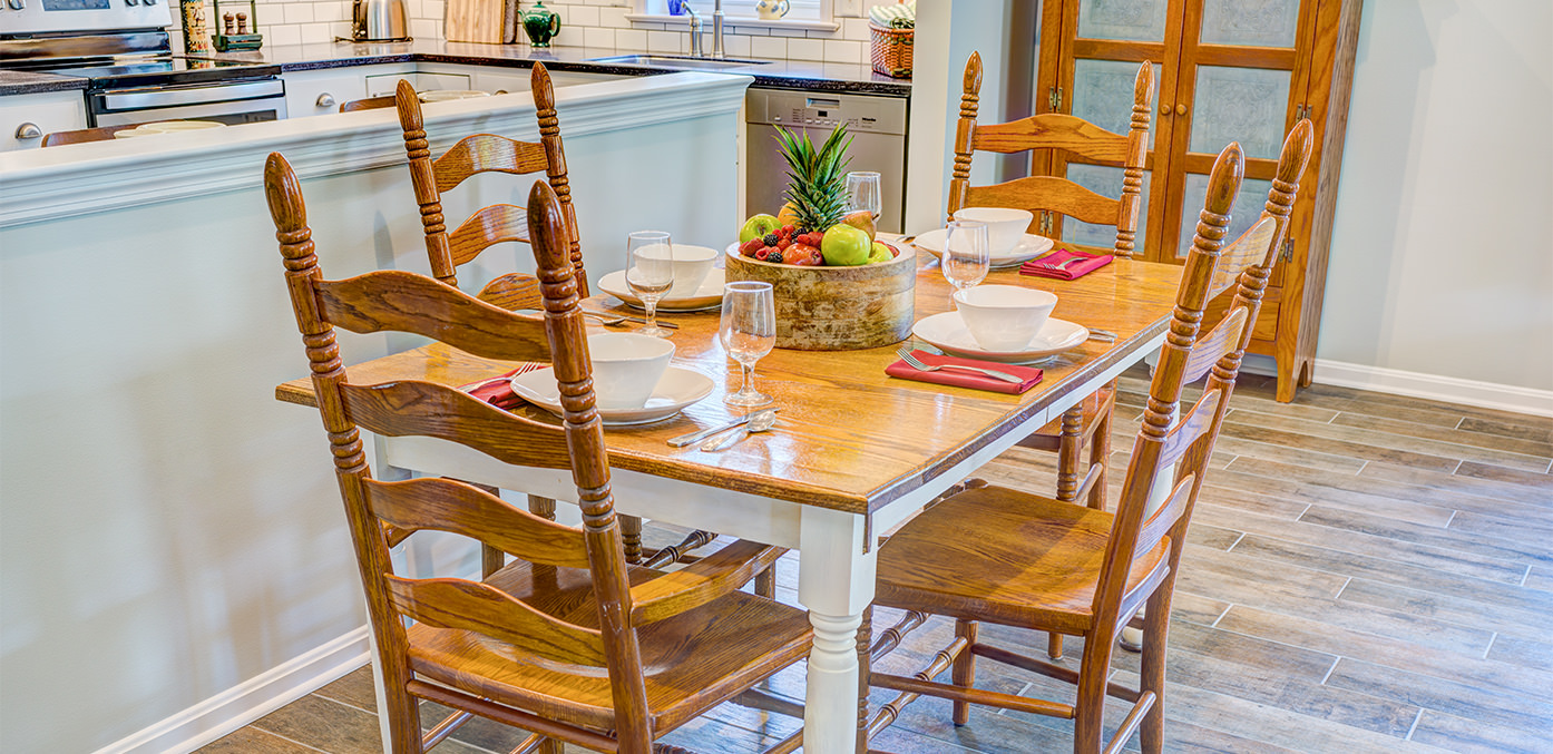 The Carriage Homes dining table